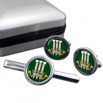 2nd King Edward VII's Own Gurkha Rifles (British Army) Round Cufflink and Tie Clip Set