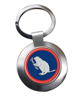 2 Operational Support Group RLC (British Army)  Chrome Key Ring