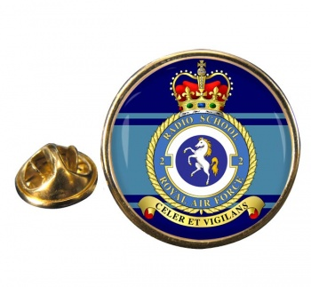 No. 2 Radio School (Yatesbury) (Royal Air Force) Round Pin Badge