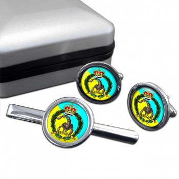 3rd-4th Cavalry Regiment (Australian Army) Round Cufflink and Tie Clip Set