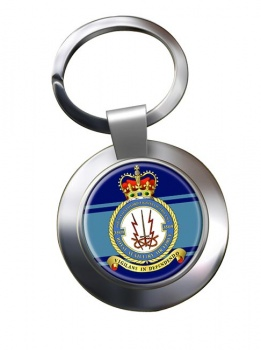 No. 3509 Fighter Control Unit 2506 RAuxAF  Chrome Key Ring