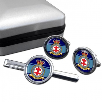 No. 41 Squadron (Royal Air Force) Round Cufflink and Tie Clip Set