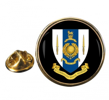 42 Commando Royal Marines Round Pin Badge