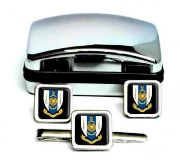 42 Commando Royal Marines Square Cufflink and Tie Clip Set