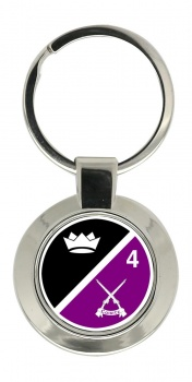 4th Infantry Battalion (Ireland) Chrome Key Ring