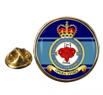 No. 5003 Airfield Construction Squadron (Royal Air Force) Round Pin Badge