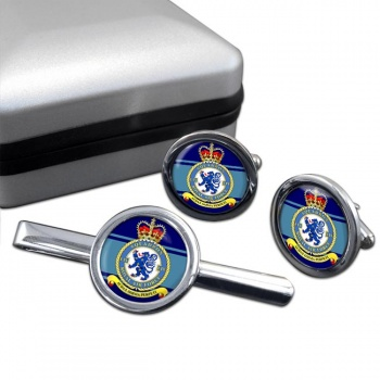No. 54 Squadron (Royal Air Force) Round Cufflink and Tie Clip Set