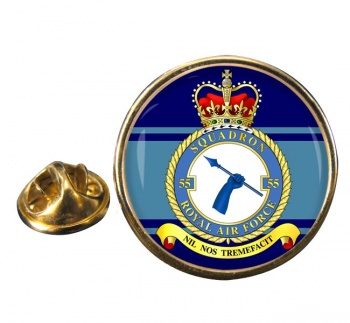 No. 55 Squadron (Royal Air Force) Round Pin Badge