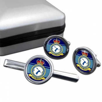 No. 55 Squadron (Royal Air Force) Round Cufflink and Tie Clip Set