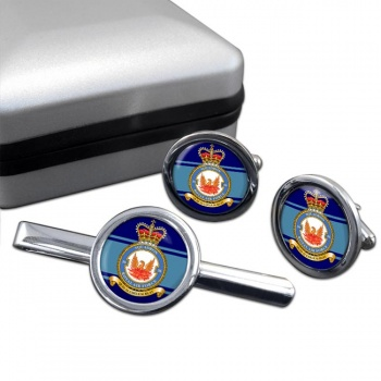 No. 56 Squadron (Royal Air Force) Round Cufflink and Tie Clip Set
