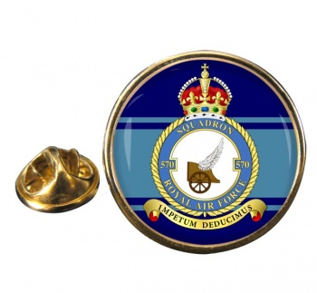No. 570 Squadron (Royal Air Force) Round Pin Badge
