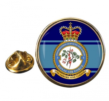 No. 5 Information Services Squadron (Royal Air Force) Round Pin Badge