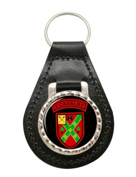 5th Cavalry Squadron (Ireland) Leather Key Fob
