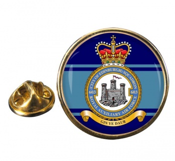 No. 603 Squadron RAuxAF Round Pin Badge