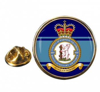 No. 605 Squadron RAuxAF Round Pin Badge