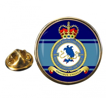 No. 608 Squadron RAuxAF Round Pin Badge