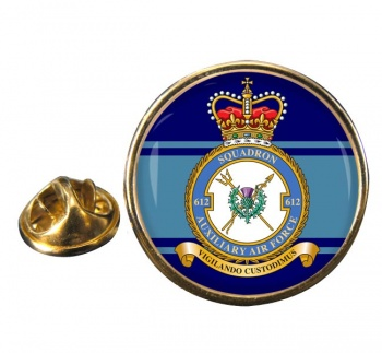 No. 612 Squadron RAuxAF Round Pin Badge