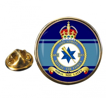 No. 683 Squadron (Royal Air Force) Round Pin Badge
