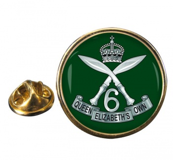 6th Queen Elizabeth's Own Gurkha Rifles (British Army) Round Pin Badge