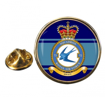 No. 72 Squadron (Royal Air Force) Round Pin Badge
