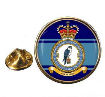 No. 7630 Intelligence Squadron RAuxAF Round Pin Badge