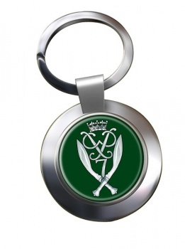 7th Duke of Edinburgh's Own Gurkha Rifles (British Army) Chrome Key Ring