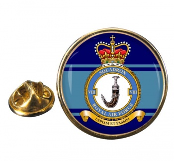 No. 8 Squadron (Royal Air Force) Round Pin Badge