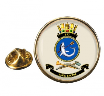 817 Squadron RAN Round Pin Badge