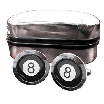 8 Ball Pool Round Cufflinks