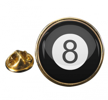 8 Ball Pool Round Pin Badge