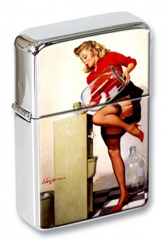 Refreshing Lift Pin-up Girl Flip Top Lighter