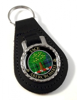 Abercrombie Scottish Clan Leather Key Fob