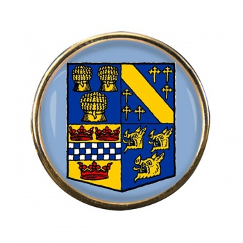 Aberdeenshire (Scotland) Round Pin Badge
