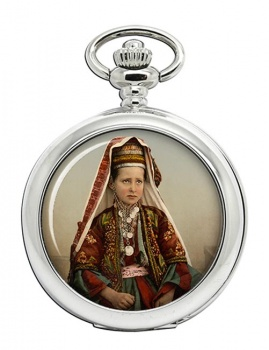 A Bethlehem Girl Pocket Watch