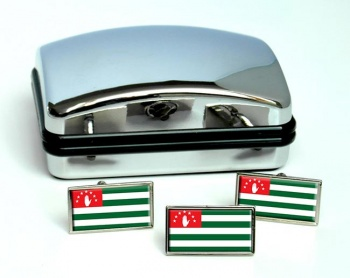 Abkhazia Flag Cufflink and Tie Pin Set
