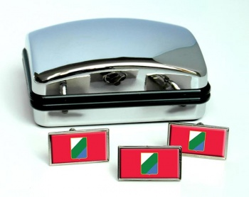 Abruzzo (Italy) Flag Cufflink and Tie Pin Set