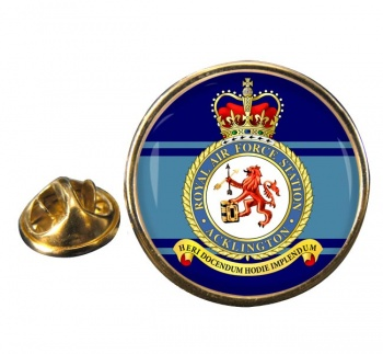 Acklington Round Pin Badge