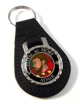 Adair Scottish Clan Leather Key Fob
