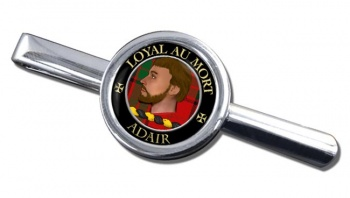 Adair Scottish Clan Round Tie Clip