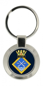 Admiralty Surface Weapons Establishment (Royal Navy) Chrome Key Ring