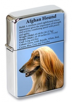 Afghan Hound Flip Top Lighter