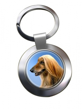 Afghan Hound Metal Key Ring