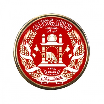 Afghanistan Round Pin Badge