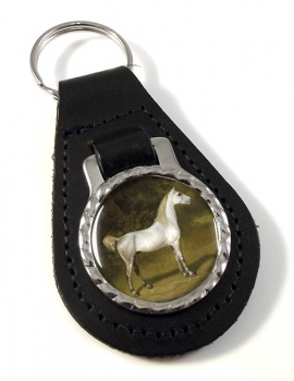 An Arab Stallion by Agasse Leather Key Fob