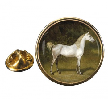 An Arab Stallion by Agasse Round Pin Badge