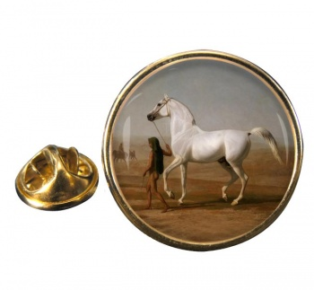 Wellington's Grey Horse by Agasse Round Pin Badge