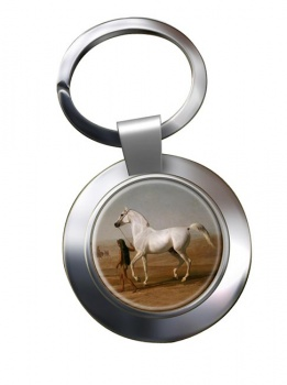 Wellington's Grey Horse by Agasse Metal Key Ring