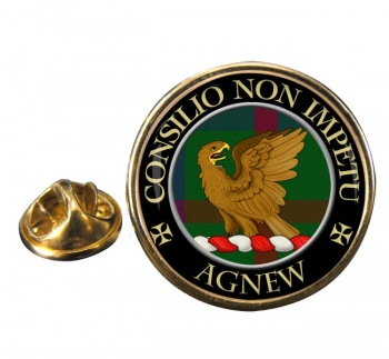 Agnew Scottish Clan Round Pin Badge