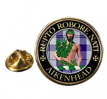 aikenhead Scottish Clan Round Pin Badge