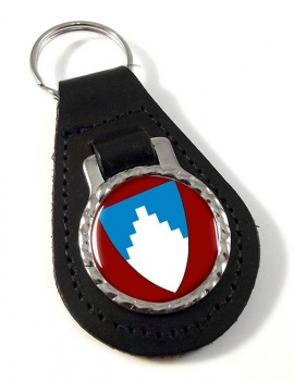 Akershus (Norway) Leather Key Fob